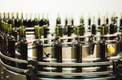 Production de bouteilles de vin